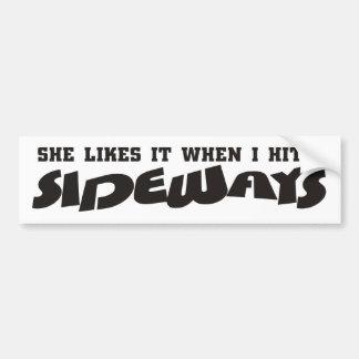 she likes it sideways bumper stickers