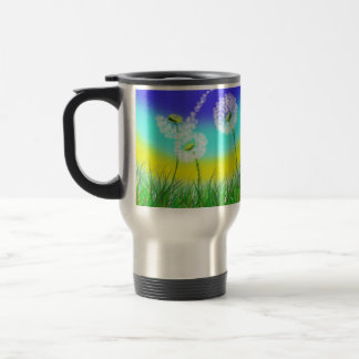 She Loves Me Not, Dandelion, Travel Mug