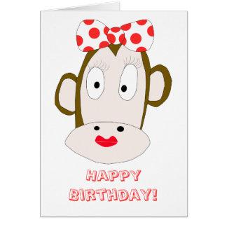 She Monkey Birthday Card Template