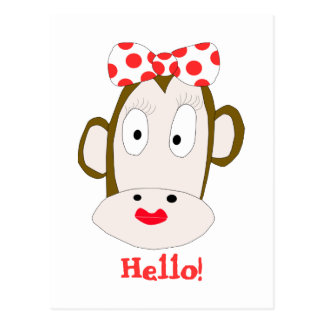 She Monkey Postcard Template