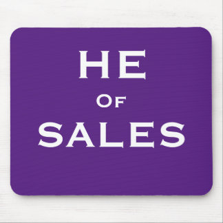 She of Sales Funny Male Sales Man Nickname Mouse Mat