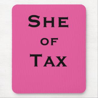 She of Tax Female Tax Accountant Tax Preparer Mouse Pad