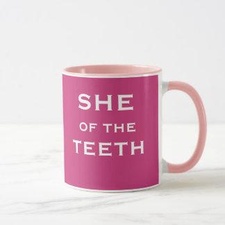 She of the Teeth Funny Female Dentist Joke Name Mug