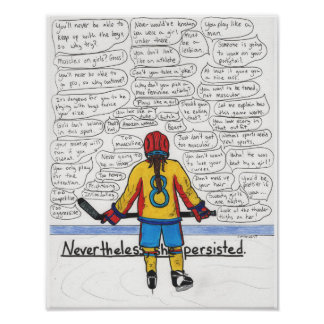 She Persisted (Athlete) 11x14 Poster