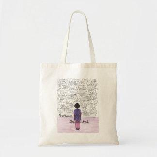 She Persisted (Black) Tote Bag