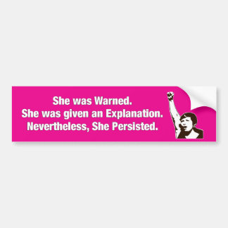 """She Persisted!"" Bumper Sticker"