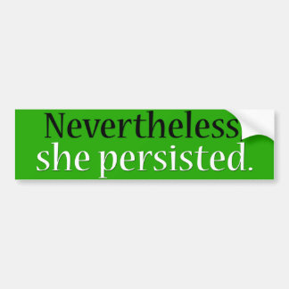 She persisted bumper sticker (green)