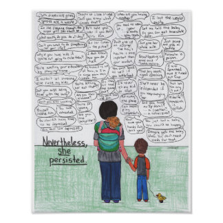 She Persisted (Motherhood) Poster