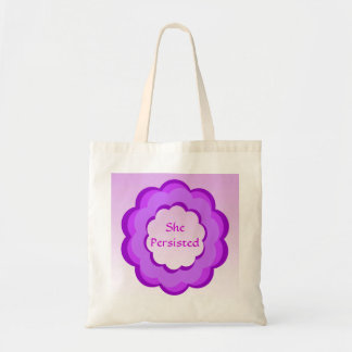 She Persisted Pink and Purple Budget Tote
