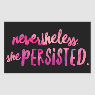 She Persisted Rectangle Stickers, Glossy Rectangular Sticker
