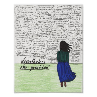 She Persisted (Single Women) Poster