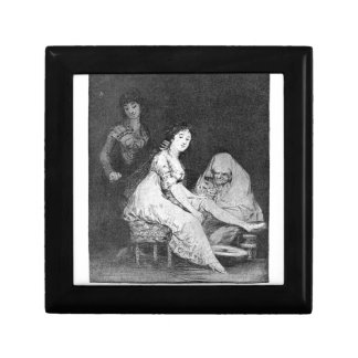 She prays for her by Francisco Goya Small Square Gift Box