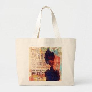 She Remembers Vintage Woman Fashion Ad Tote Bag