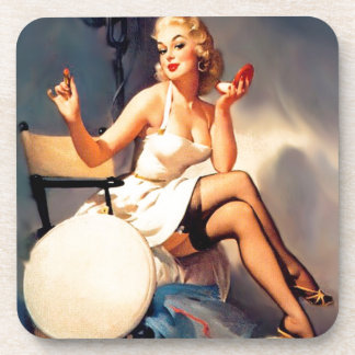 She s a Starlet Pin Up Girl Coasters