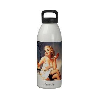 She s a Starlet Pin Up Girl Reusable Water Bottles