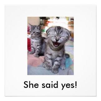 She said yes! invitation