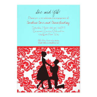 She said YES Personalized Invitation