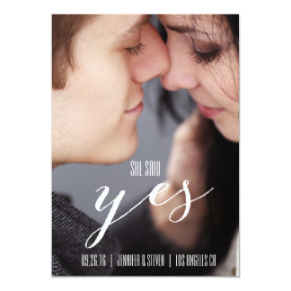 SHE SAID YES | MODERN PHOTO SAVE THE DATE CARD