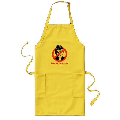 She scares me aprons