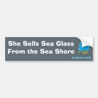 She Sells Sea Glass from the Sea Shore Bumper Sticker