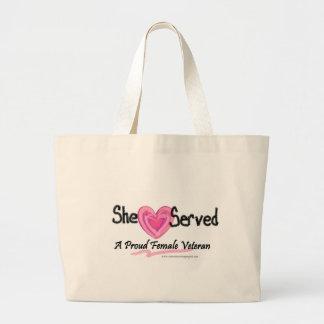 She Served Collection Jumbo Tote Bag