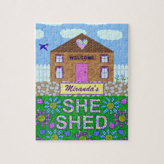 She Shed Woman Cave Garden Haven Personalized Name Puzzle