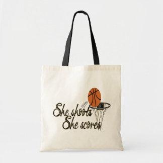 She Shoots She Scores Canvas Bags
