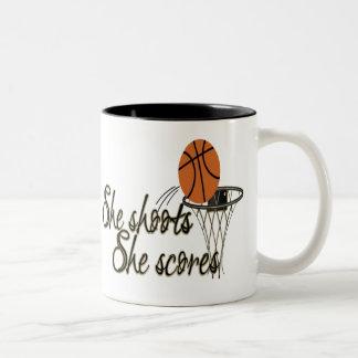 She Shoots...She Scores Two-Tone Mug