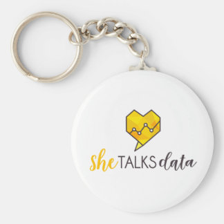 She Talks Data Keychain