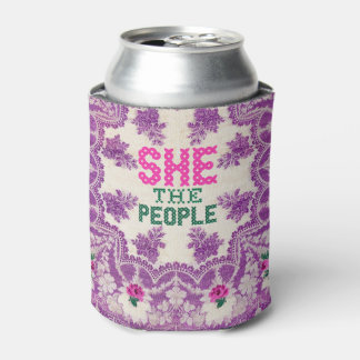 She The People Cross Stitch Can Cooler