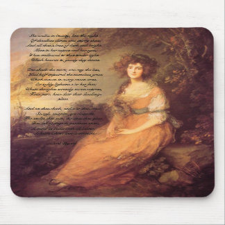 She Walks in beauty Mouse Pad