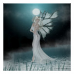 She Walks on Water - Fantasy Fae Print/Poster Poster