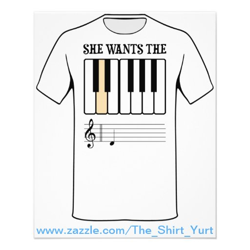 She Wants the D Piano Music Flyers