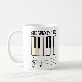 She Wants the D Piano Music Mug