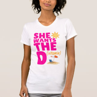 She Wants the D (Vitamin) Ladies Tank Top