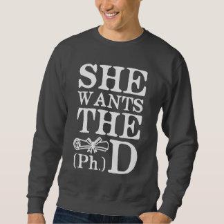 She Wants the PhD Sweatshirt