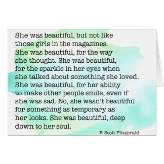 She Was Beautiful Card