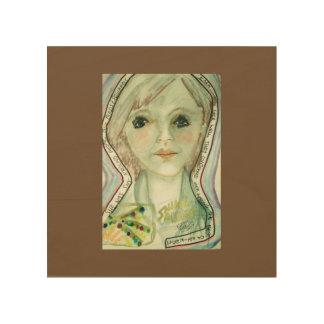 She Was Shy Around People... Wood Prints