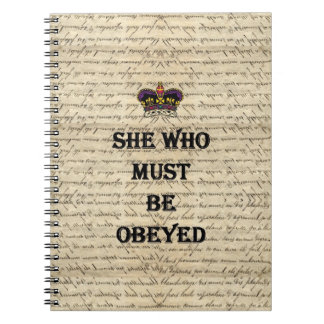 She who must be obeyed notebook