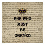 She who must be obeyed print