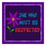 She Who Must Be Respected Poster