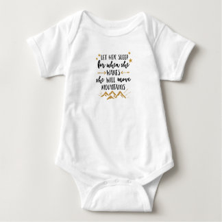 She Will Move Mountains Baby Jersey Bodysuit