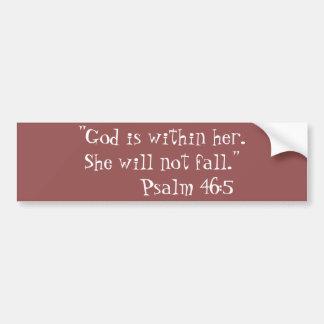 """She will not Fall"" Bumper Sticker"