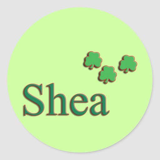 Shea Family Round Stickers