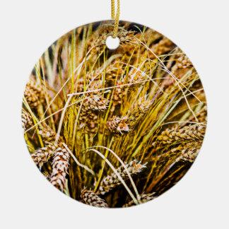 Sheaf Of Wheat - Thank You Christmas Ornament