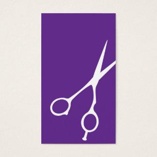Shears Barber/Cosmetologist Business Card (Purple)