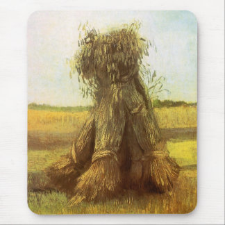 Sheaves of Wheat by Vincent van Gogh Mouse Mat
