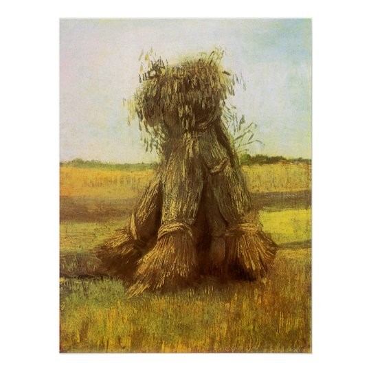 Sheaves of Wheat by Vincent van Gogh Poster