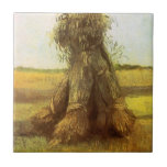 Sheaves of Wheat by Vincent van Gogh Small Square Tile