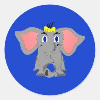 Sheba Elephant Classic Round Sticker